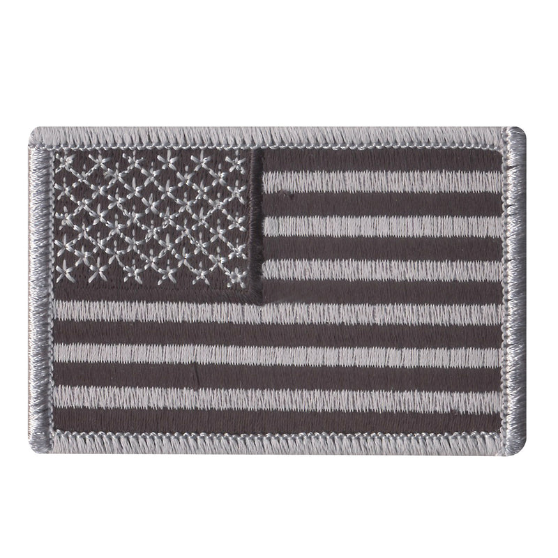 American Flag Patch Silver / Black