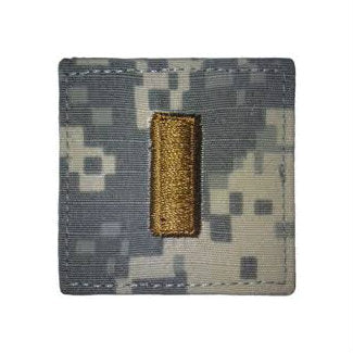Army ACU 2nd Lieutenant Hook & Loop Rank