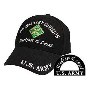 Army 4th Infantry Division Hat Black