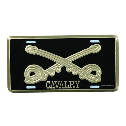 Army Cavalry License Plate