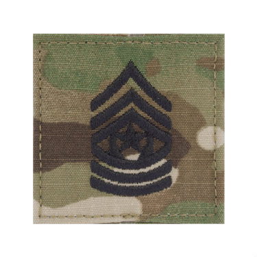Army Command Sergeant Major E-9 OCP Hook & Loop Rank