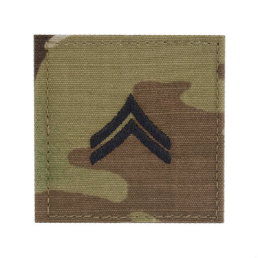 Army Corporal E-4 OCP Hook & Loop Rank
