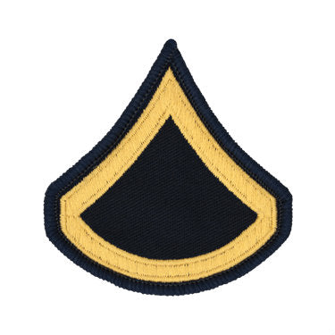 Army Gold / Blue Private First Class (PFC) (E-3) Chevron Set Female