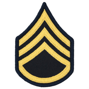 Army Gold / Blue Staff Sergeant (E-6) Chevron Set Female (1 Pair)