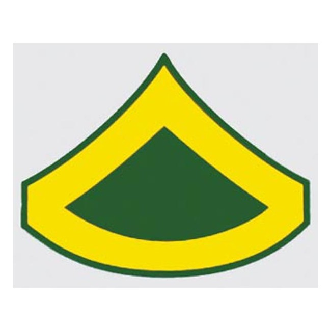 Army E-3 PFC Rank Decal