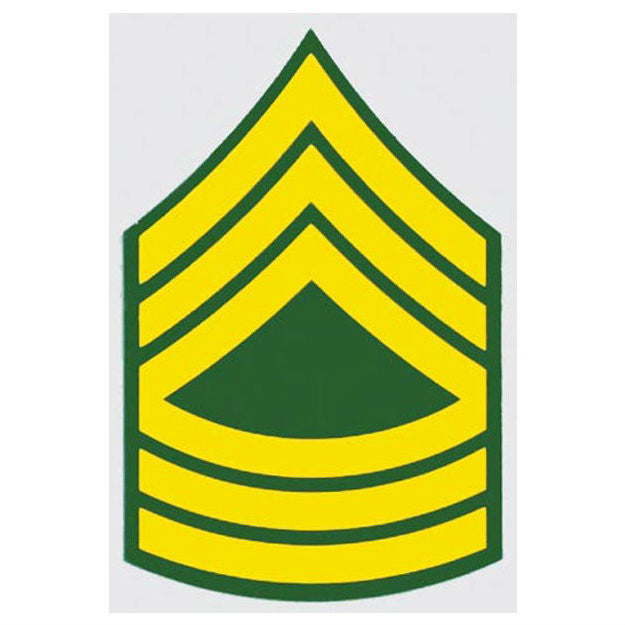 Army E-8 Master Sergeant Decal