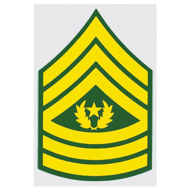 Army E-9 Command Sergeant Major Decal