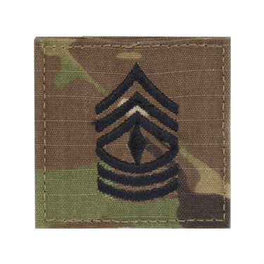 Army First Sergeant E-8 OCP Hook & Loop Rank