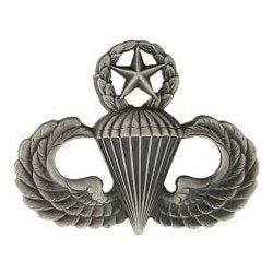 Army Master Parachutist (Jump Wings) Badge Silver Ox