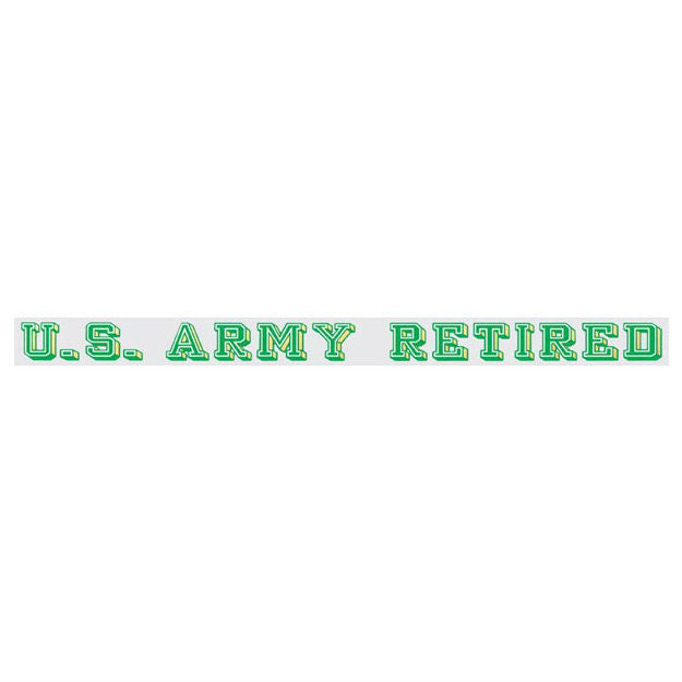 Army Retired Strip Decal
