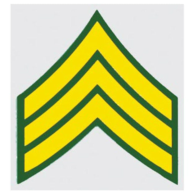 Army Sergeant E-5 Rank Decal