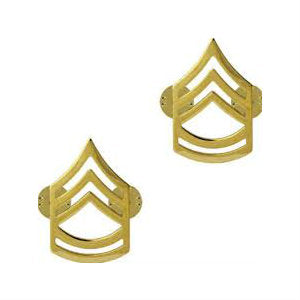 Army Sergeant First Class (E-7) Rank No Shine (Pair)