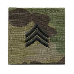 Army Sergeant OCP Hook & Loop Rank