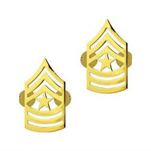 Army Sergeant Major (E-9) Rank No Shine (Pair)