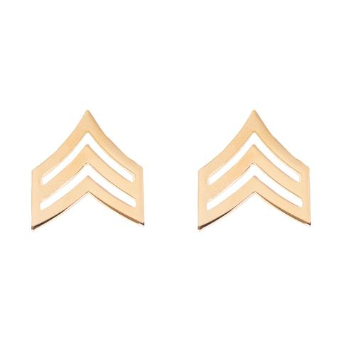 Army Sergeant (E-5) Rank No Shine (Pair)