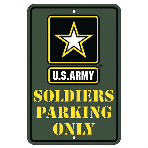 US Army Soldiers Parking Only Metal Parking Sign