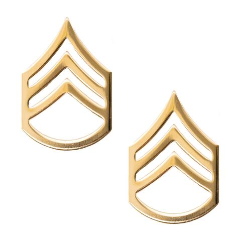 Army Staff Sergeant (E-6) Rank No Shine (Pair)
