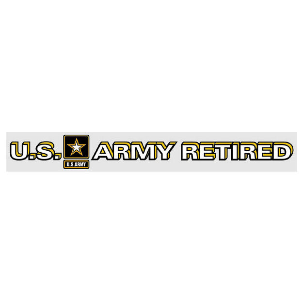 Army Retired Star Logo Strip Decal