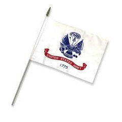 "Army Stick Flag 12"" x 18"""