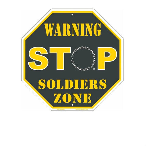 Army Metal Stop Sign