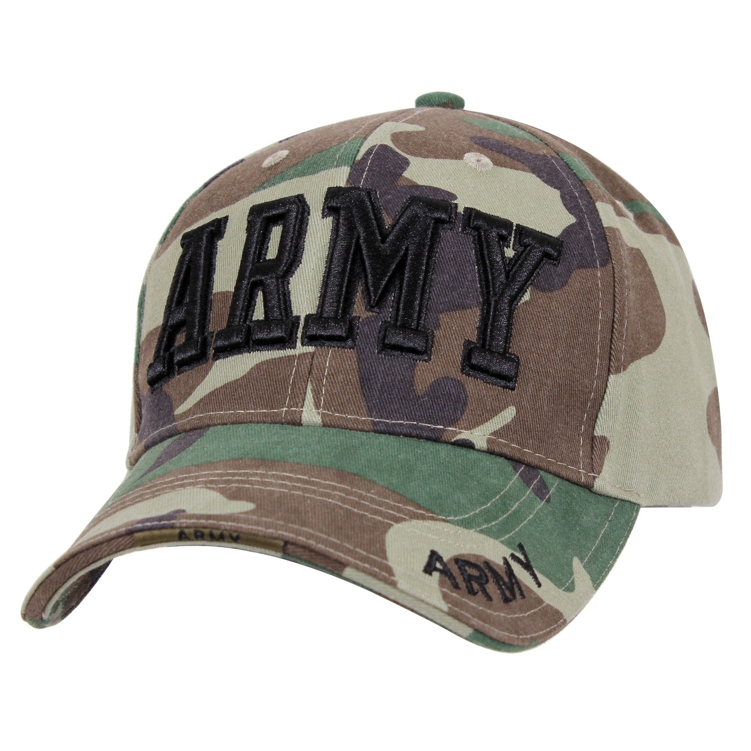 Army Text Hat Woodland Camouflage
