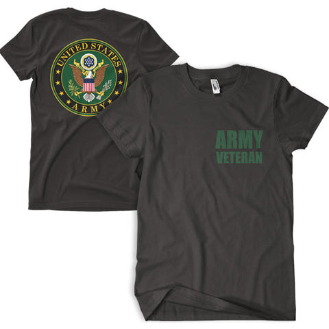 Army Veteran T-Shirt Black