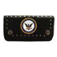 Navy Biker Wallet With Chain - Indy Army Navy