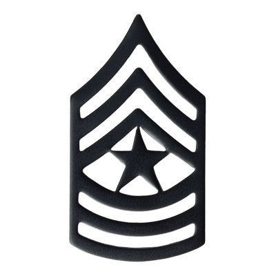 Army Sergeant Major (E-9) Rank Black Metal (Pair)