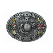 Semper Fi USMC Belt Buckle