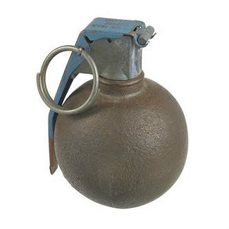 Olive Drab Baseball Dummy Grenade - Indy Army Navy