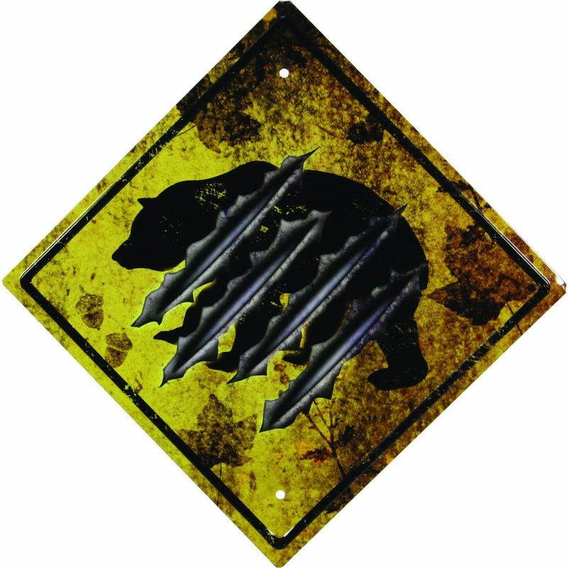Bear Crossing Tin Sign