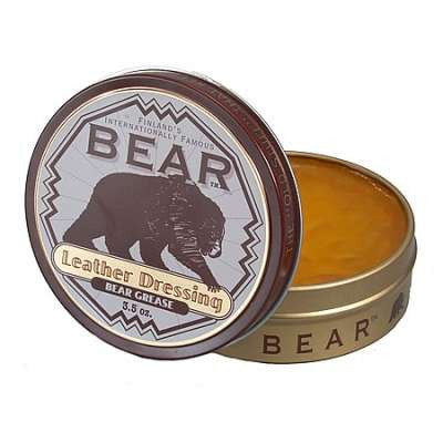 Bear Leather Dressing Bear Grease 3.5 oz
