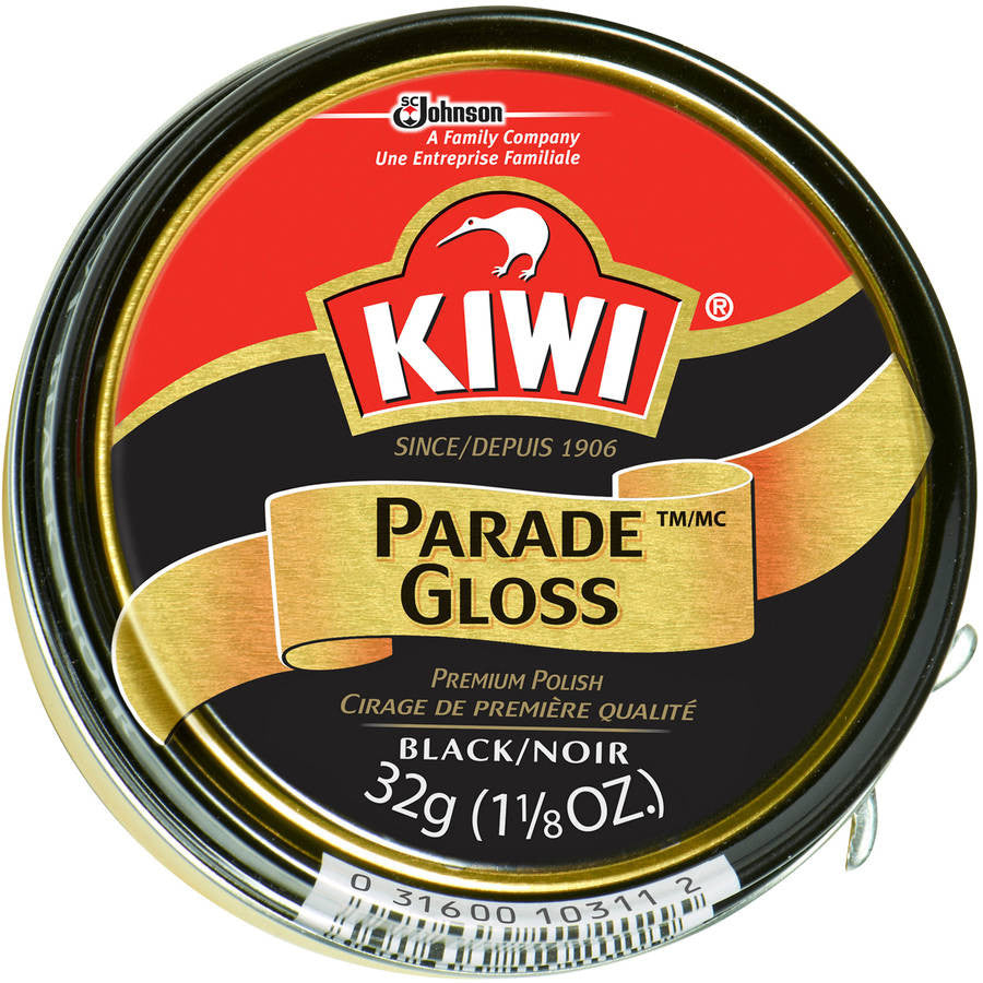 Kiwi Parade Gloss Shoe Polish Black 1 1/8 oz.