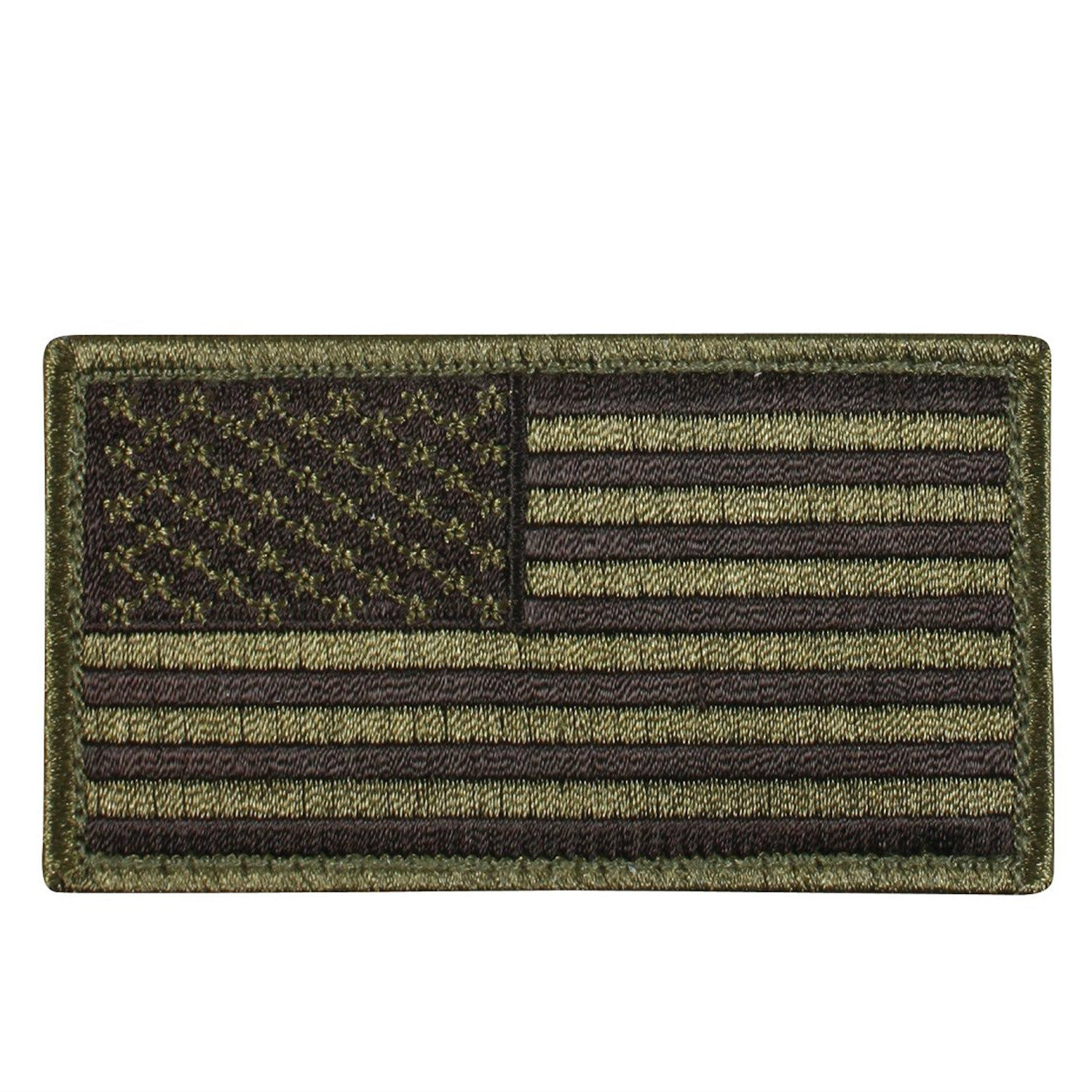 Olive Drab / Black Hook & Loop Flag Patch - Indy Army Navy