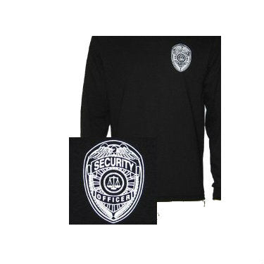 Security Badge Hoodie Black