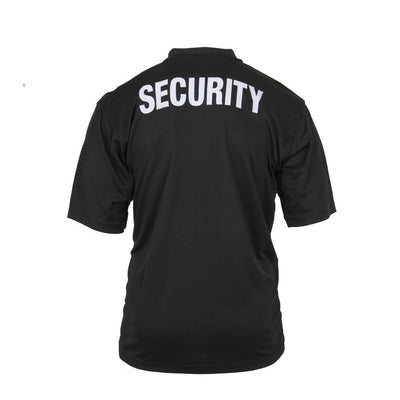 Cotton Security Polo Black
