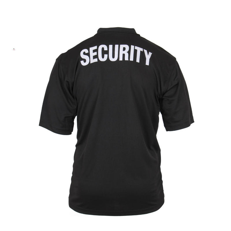 Security Badge Polo Black