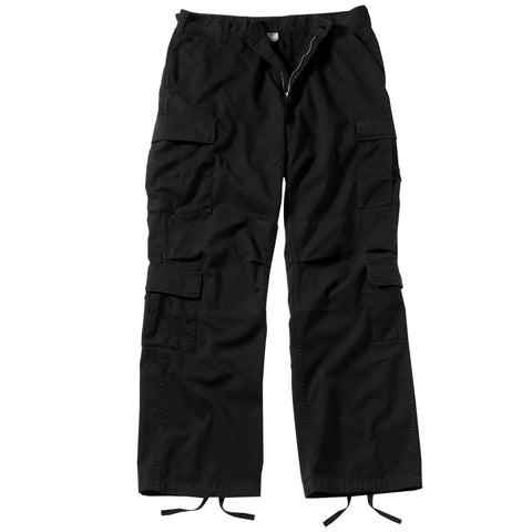 Vintage Paratrooper Fatigue Pants Black