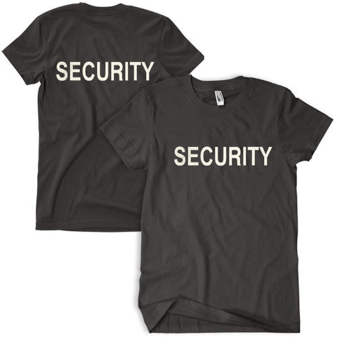Double Sided Black Security T-Shirt