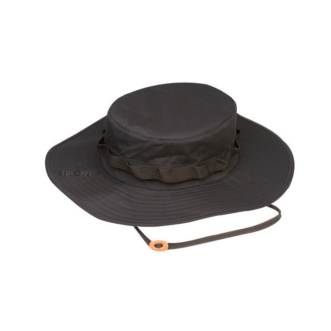 Tru Spec Black H2O Proof Boonie Hat