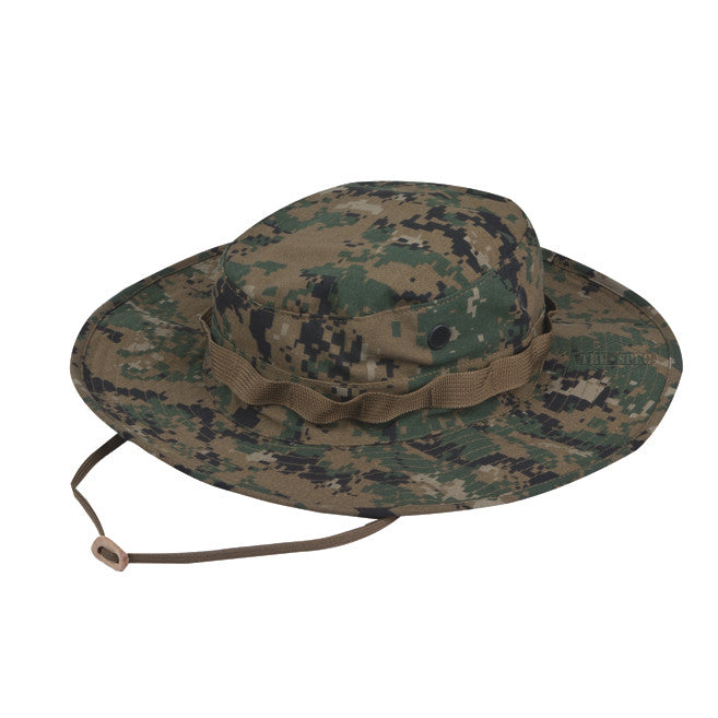 Tru Spec Woodland Digital Rip Stop Boonie Hat - Indy Army Navy