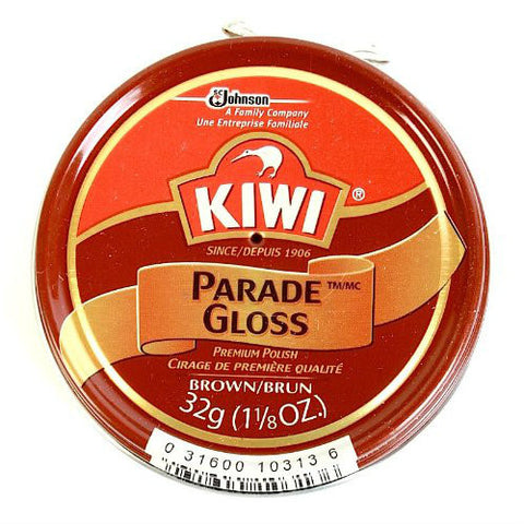 Kiwi Parade Gloss Shoe Polish Brown 1 1/8 oz.