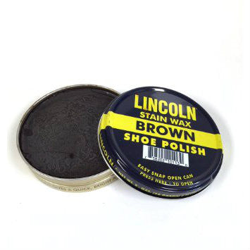 Lincoln Stain Wax Shoe Polish Brown 2 1/8 oz.
