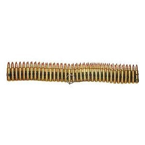 "Bullet Belt .223 Cal Brass (71 Links / 33"") Inert"