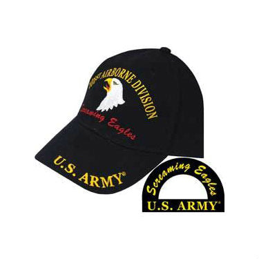 101st Airborne Division Hat Black - Indy Army Navy