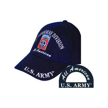 82nd Airborne Division Hat Black