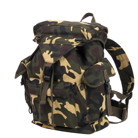 Canvas Outdoorsman Rucksack Woodland Camouflage