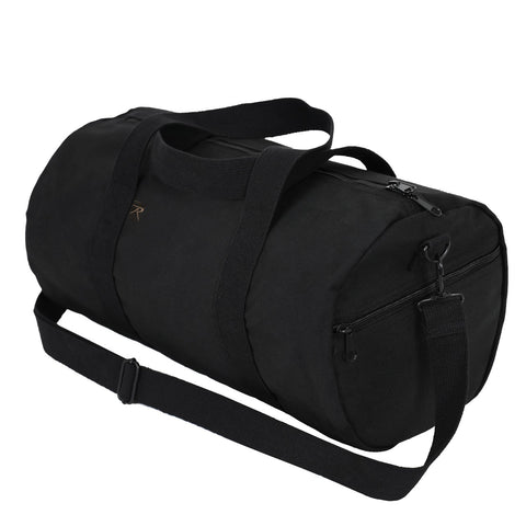 "Canvas Roll Duffle Bag Black 9""x18"""