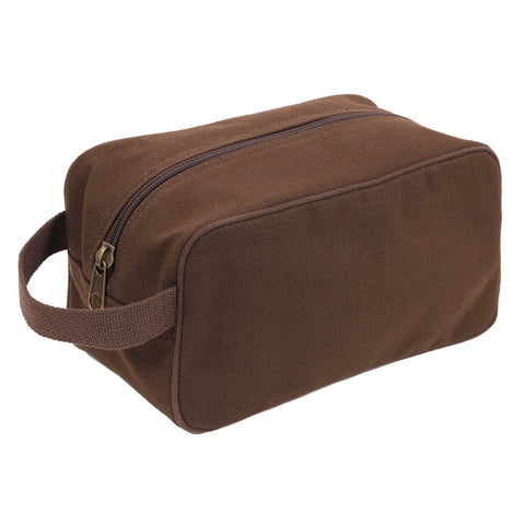 Canvas Toiletry Travel Kit Earth Brown