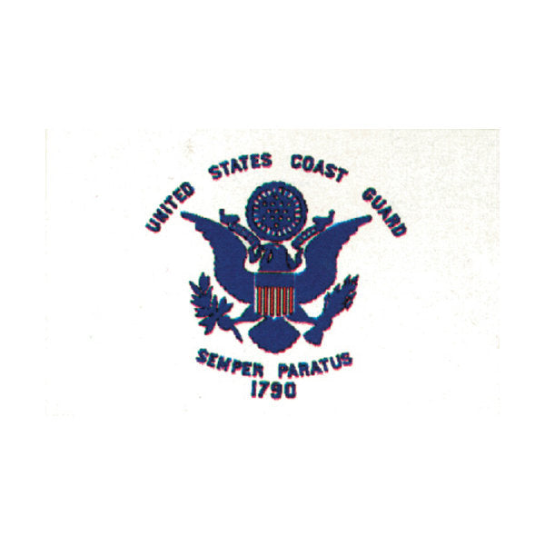 Coast Guard Flag White 3' x 5'
